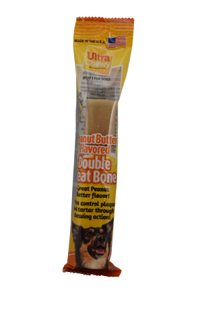 Ultra Chewy Peanut Butter Flavored Double Treat Bone - 2 units