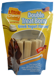 Ultra Chewy Greek Yogurt Flavored Double Treat Bone Value Pack - 2 packs