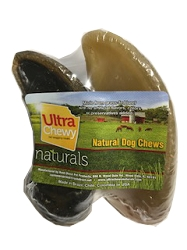 Ultra Chewy Naturals -  2 pk Filled Cow Hooves - Peanut Butter and Bacon 'n Cheese