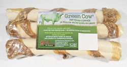 Green Cow Rawhide Wrapped Retriever Roll