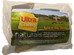 Ultra Chewy Naturals -  4 pk Unfilled Cow Hooves