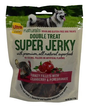 Ultra Chewy Naturals - Super Jerky Turkey Fillets With Cranberries & Pomegranate - 4 ounce