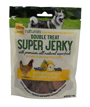 Ultra Chewy Naturals - Super Jerky Chicken Fillets With Blueberry and Pear