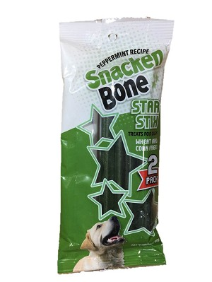 Snacken Bone StarStix Peppermint - 2 PACKAGES