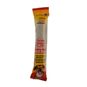 Ultra Chewy Chicken Flavored Double Treat Bone - 2 units